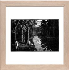 Boys Bathing - Ready Framed